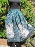 1950's Pleated cotton floral skirt